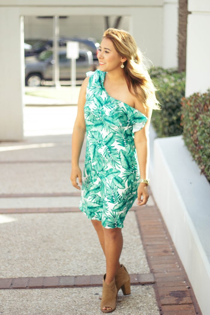 How to Face Adversity + Palm Print Dress