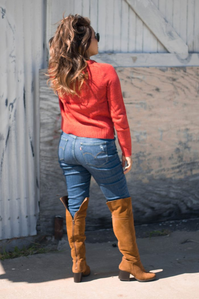 Orange Sweater Outfit