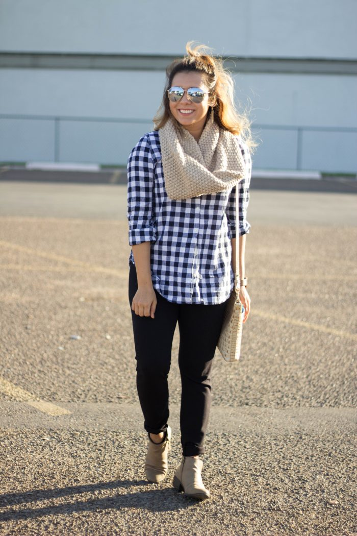 Navy Plaid Fall Outfit