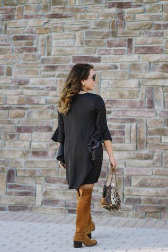 2 yr. Blog Anniversary + Black Dress with OTK Boots