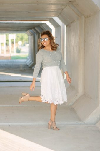 Sweater and Skirt Combo with Q+A