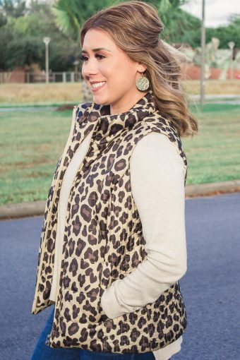 Leopard Vest Outfit
