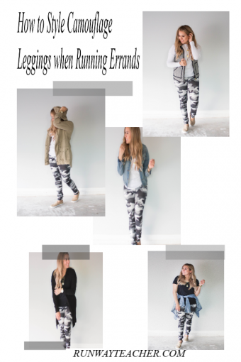 How to Style Camouflage Leggings when Running Errands