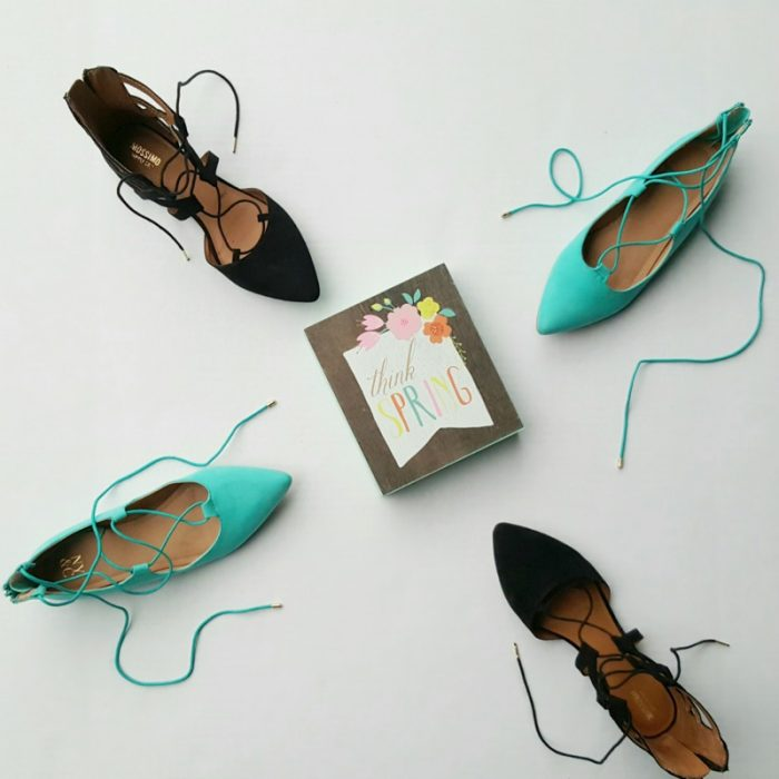 Lace-Up Flats for Spring