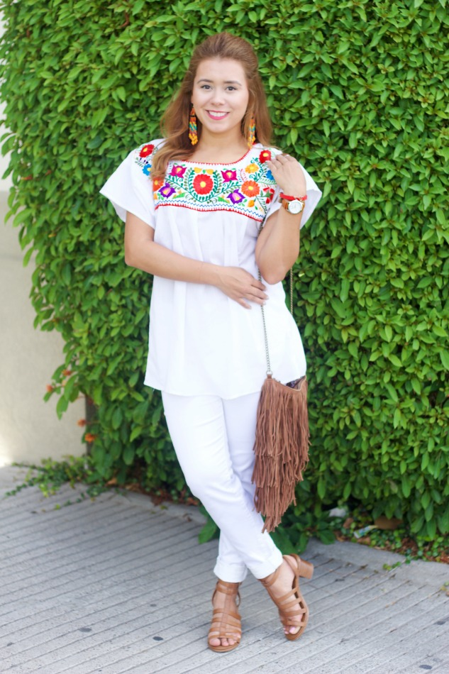 Mexican Embroidered Top + Hispanic Heritage