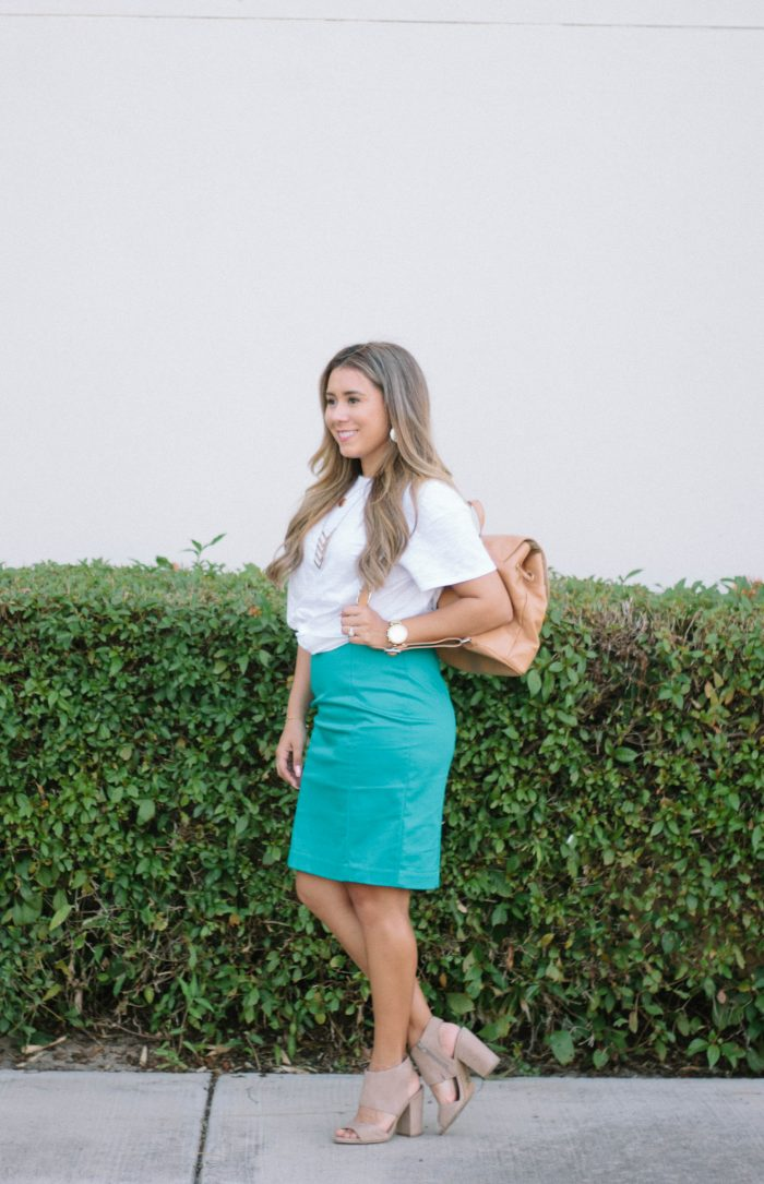 How to Style a White Tee for Work