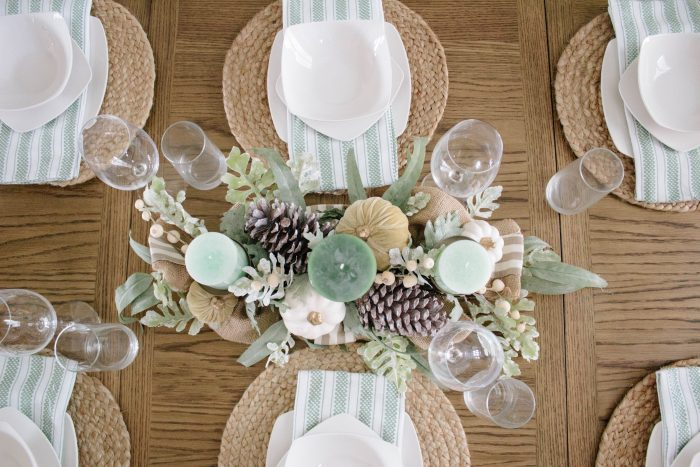 Simple Fall Dining Table Décor
